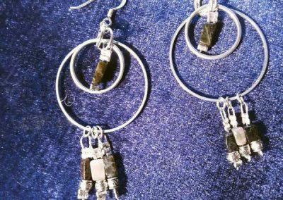 Créatrice bijoux Codalet (Prades) boucles d'oreilles avec pierres fines