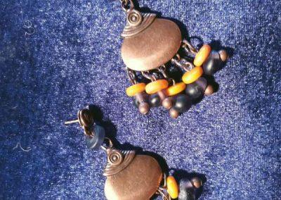 boucles d'oreilles réalisées par Carole Martinez sur Codalet