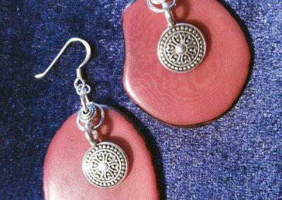 boucles d'oreilles par Carole martinez Créatrice de bijoux ethniques