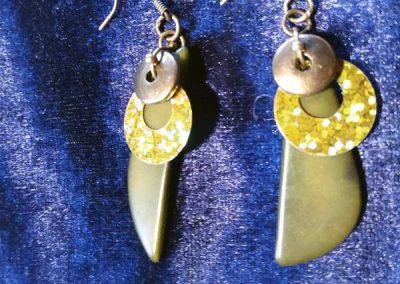 boucles d'oreilles atelier près de Prades de bijoux bohèmes ethniques
